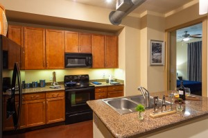 Two Bedroom Apartments for Rent in Houston, TX - Model Kitchen with Double Sink Island